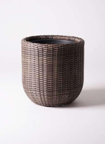 鉢カバー  ウィッカーポット エッグ NT 8号鉢用 茶 #KONTON WP-004C41E
