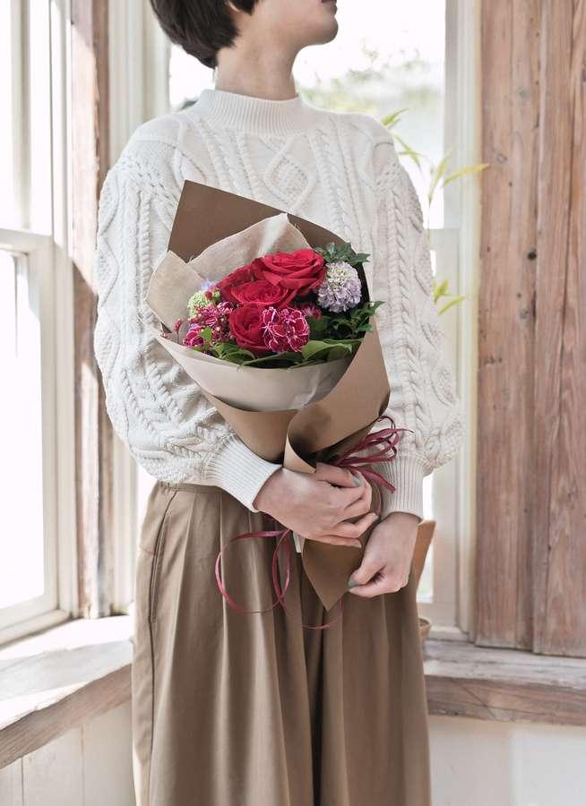 バラ 花束   赤 S