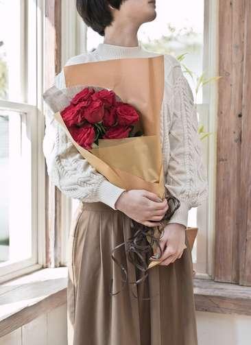 バラ 花束 レッド S (12本入)