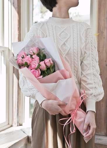 バラ 花束 ピンク S (12本入)