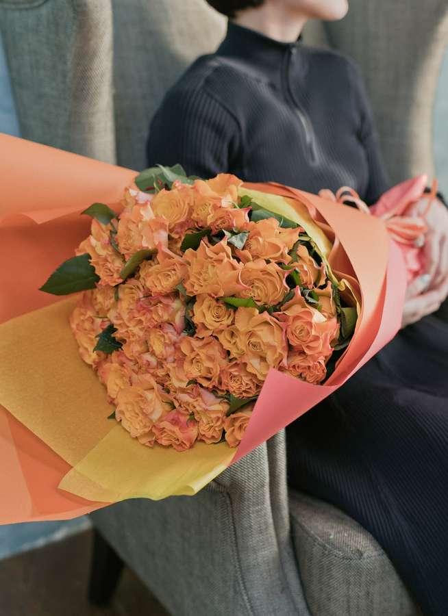 バラ 花束 オレンジ L (50本入)