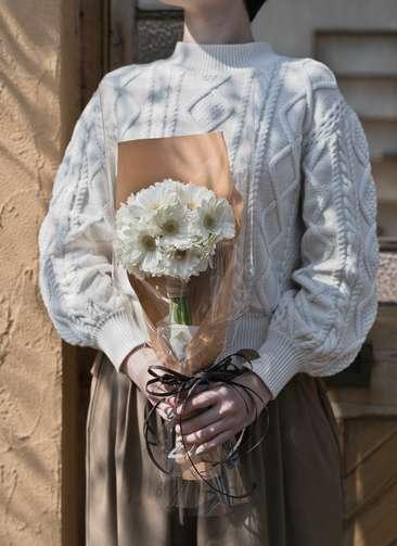 ガーベラ 花束 ホワイト S (20本入り)