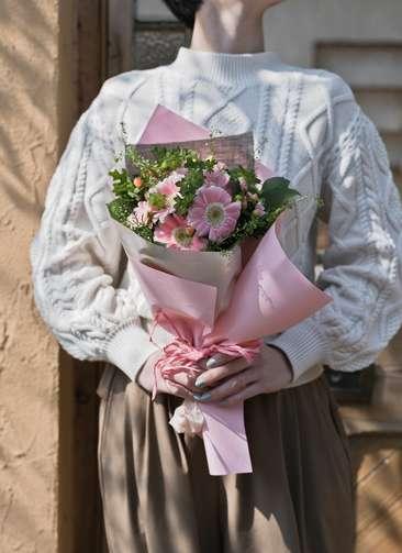 ガーベラ 花束 ピンク S スタンダード