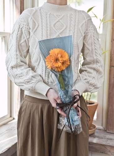 ガーベラ 花束 オレンジ SS (10本入り)
