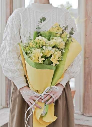 トルコキキョウ 花束 イエロー S スタンダード