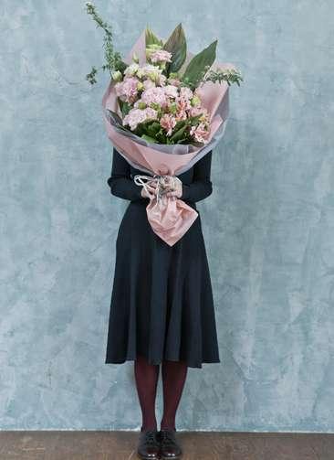 トルコキキョウ 花束 ピンク L スタンダード