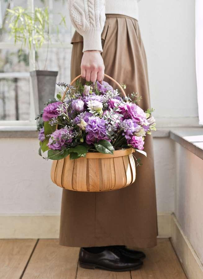 トルコキキョウ アレンジメント 紫 L