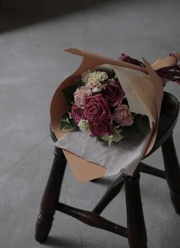 バラ 花束 ブラウン S ナチュラルブーケ
