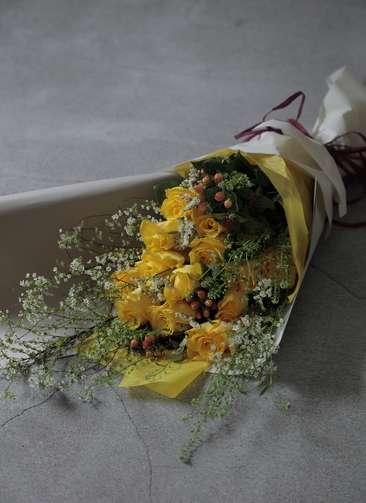 バラ 花束 イエロー L スタンダード