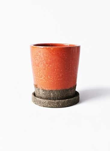 鉢カバー  ヴィフポット オレンジ 3号 #GREENPOT CP-OR16057B