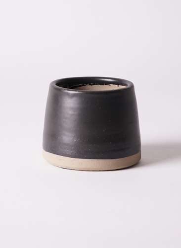 鉢カバー Color Crack(カラークラック) 3号鉢用 black #stem C6316
