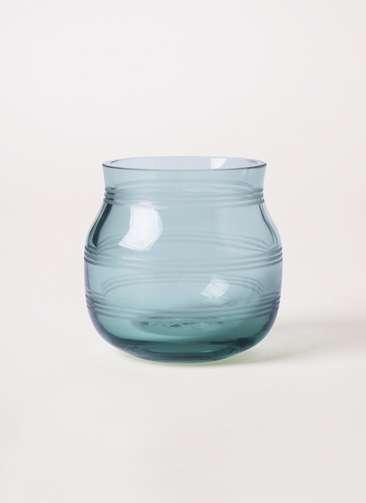 Omaggio (オマジオ) グラスキャンドルホルダー グリーン