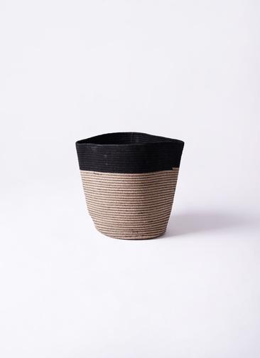 鉢カバー  Rib Basket (リブバスケット) 4号鉢用 Natural and Black