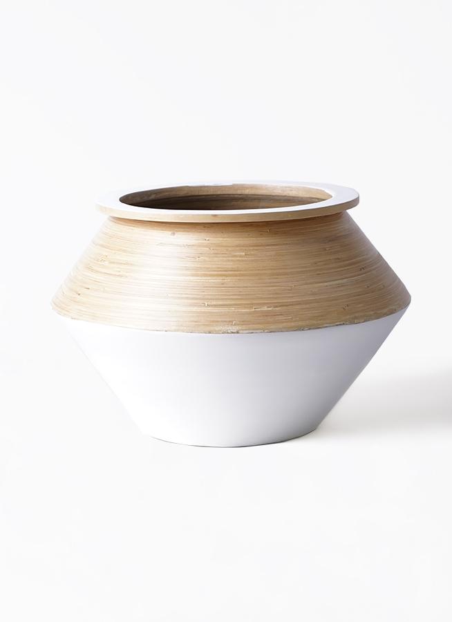鉢カバー  アルマジャー 8号鉢用 白 #KONTON AL-J05W45V