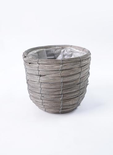 鉢カバー  ウードンラウンドバンドル 5号鉢用 グレー