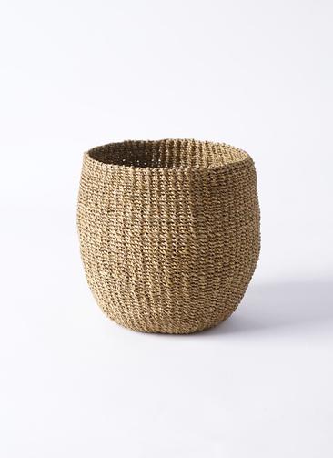 鉢カバー Abaca Basket (アバカバスケット)  5号鉢用 オリーブ #stem B1222