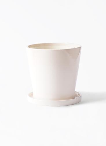 鉢カバー  ベラ 5号鉢用 アイボリー #ミュールミル CH-035Wh
