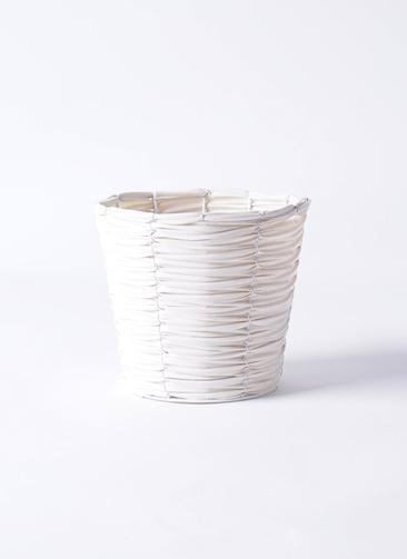 鉢カバー  ホワイトバスケット 5号鉢用