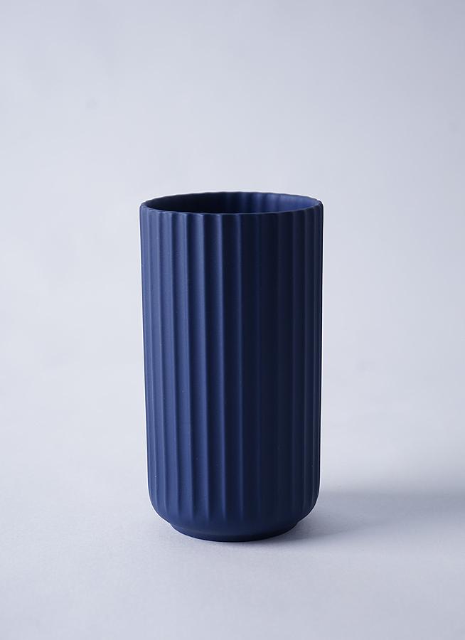 Lyngby Vase(リュンビューベース) H15cm ミッドナイトブルー