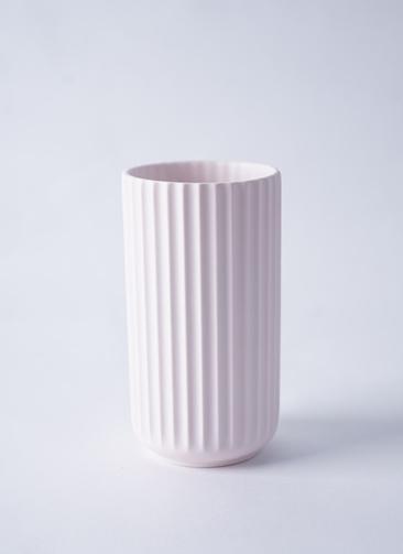 Lyngby Vase(リュンビューベース) H15cm ソフトピンク