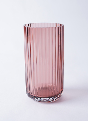 Lyngby Vase(リュンビューベース) Glass H20cm バーガンディー #Lyngby Porcelæn 201067