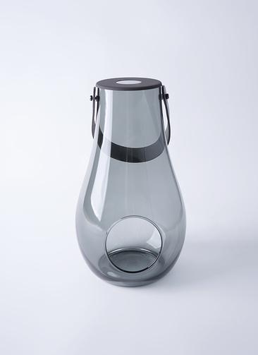DESIGN WITH LIGHT (デザイン ウィズ ライト) LANTERN(ランタン) H29cm スモーク