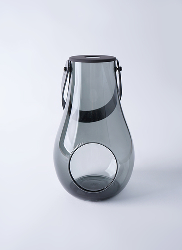 DESIGN WITH LIGHT (デザイン ウィズ ライト) LANTERN(ランタン) H25cm スモーク