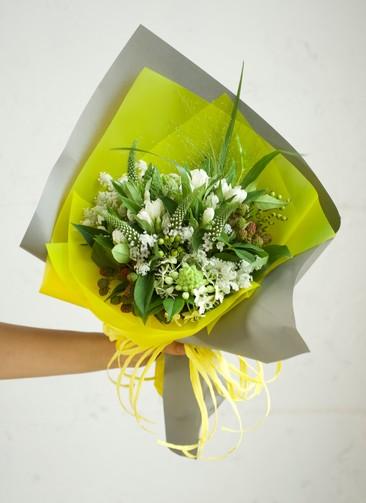 リンドウ 花束 ホワイト S スタンダード