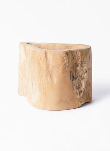 鉢カバー  TeaK Wood (ティークウッド) L