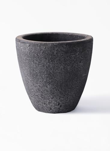 鉢カバー  フォリオエッグ 5号鉢用 ブラックウォッシュ #GREENPOT EB-SL225023BLW