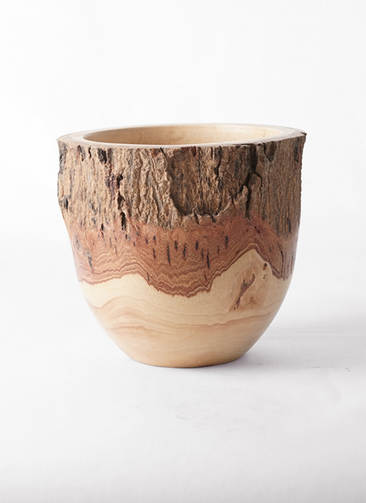 鉢カバー  Mango Wood(マンゴーウッド) フラワーベース 6号鉢用