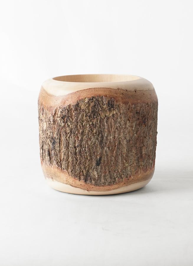 鉢カバー  Mango Wood(マンゴーウッド) 4号鉢用 #stem W9712