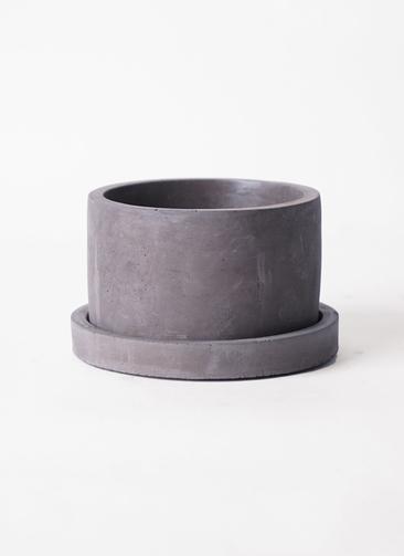 鉢カバー ストーンポット 皿付き M #stem F7803