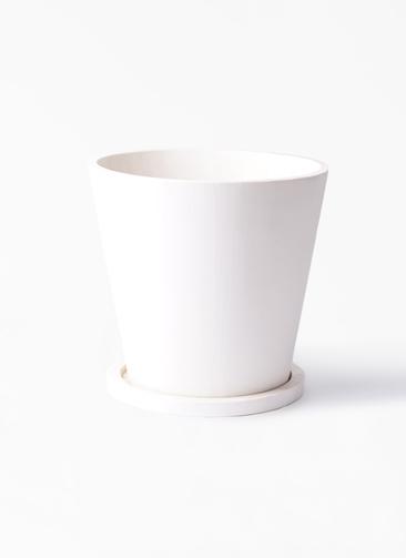 鉢カバー  パウダーストーン 10号white #stem P3195