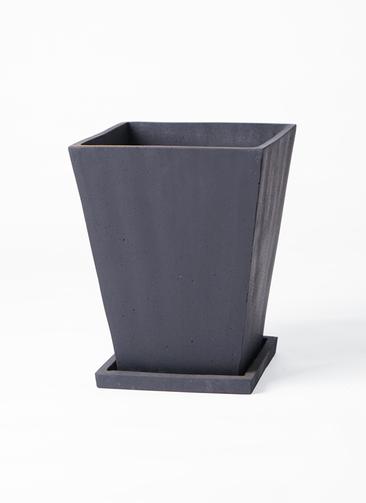 鉢カバー  パウダーストーン スクエア 6号鉢用 黒