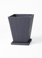 鉢カバー  パウダーストーン スクエア 6号鉢用 黒 #stem P2153
