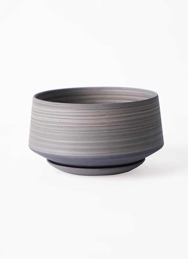 鉢カバー  レイヤードポット 皿付き  gray #stem C7338
