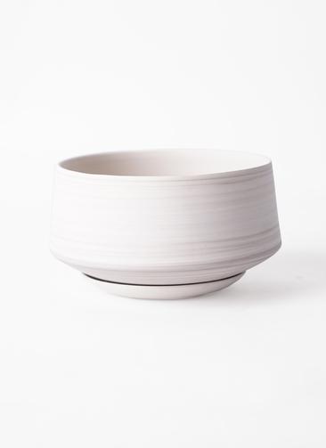 鉢カバー  レイヤードポット 皿付き  white #stem C7338