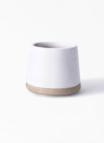 鉢カバー  Color Crack(カラークラック) 3号鉢用 white #stem C6316