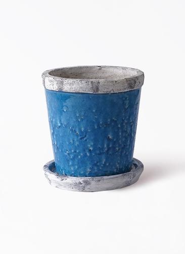 鉢カバー  Antique Terra Cotta (アンティークテラコッタ) 4号鉢用 Blue