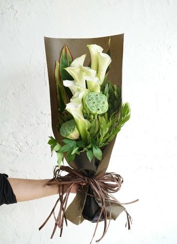 カラー 花束 ホワイト M スタンダード