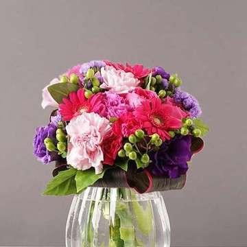 バラ グラスブーケ 紫(パープル)