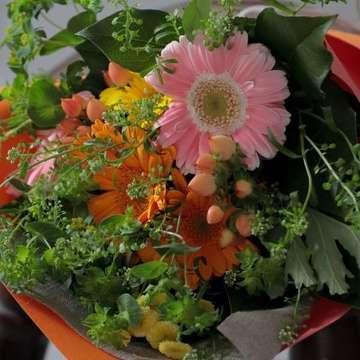 ガーベラ 花束 ミックス