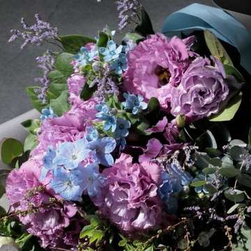 トルコキキョウ 花束 紫(パープル)