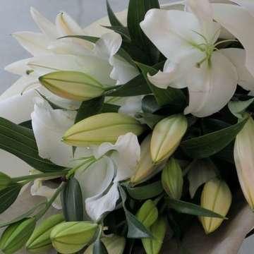ユリ 花束 白(ホワイト)