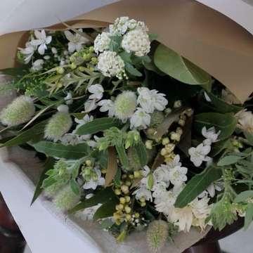 草花系 花束 白(ホワイト)