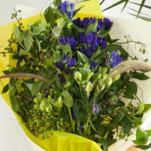 リンドウ 花束 ブルー