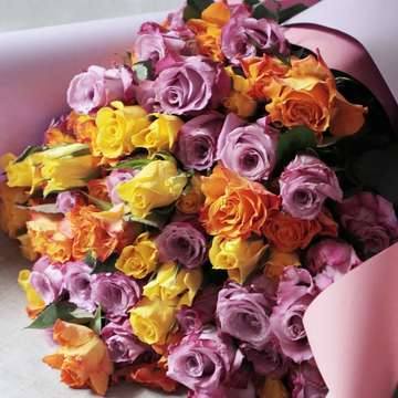 バラ 花束 ミックス
