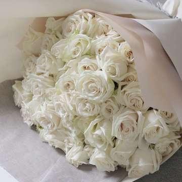 バラ 花束 白(ホワイト)
