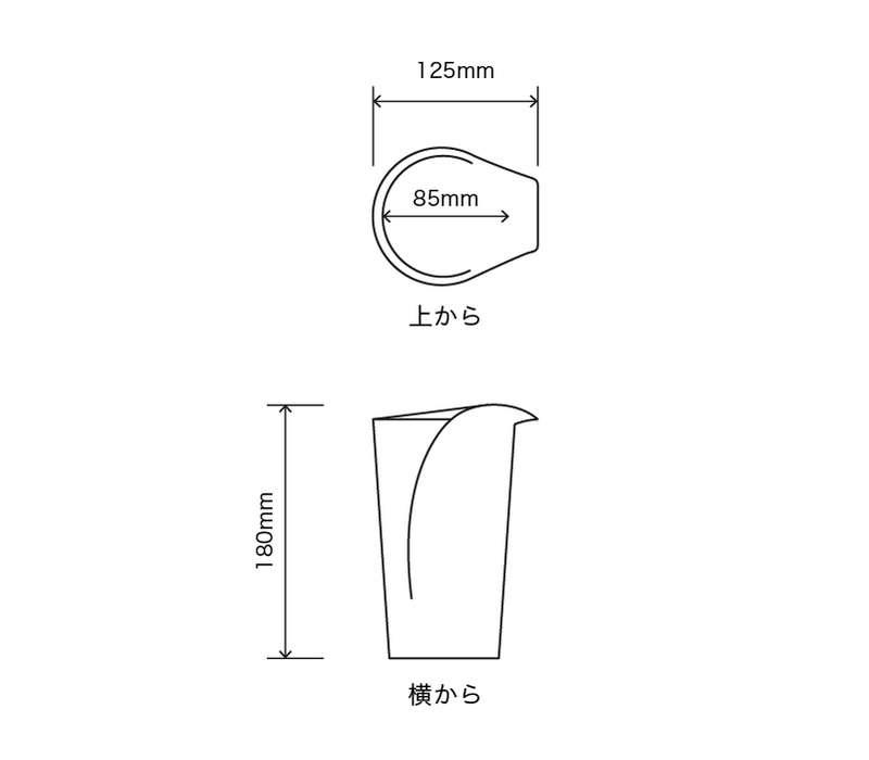 サイズ:外径 12.5cm、内径 11.5cm、高さ 22cm